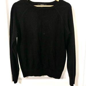 Classic Black Boatneck Sweater